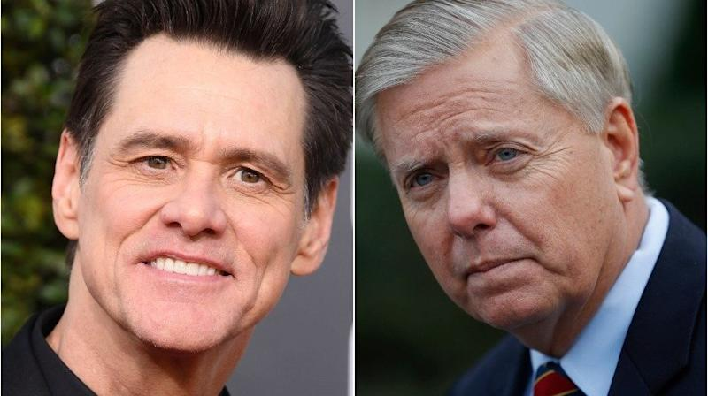Jim Carrey Pushes Sen. Lindsey Graham To The Wall In New Critical Cartoon