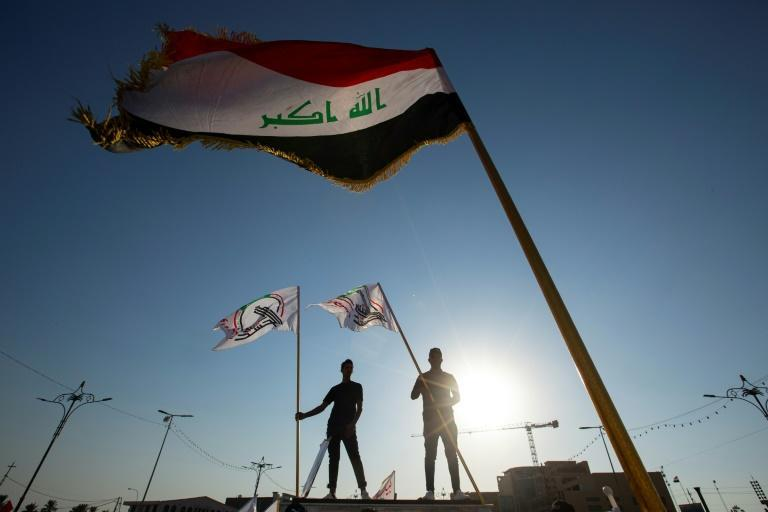 The coalition known as Hashed al-Shaabi, an Iraqi paramilitary network, is dominated by Iran-backed factions (AFP/Hussein FALEH)