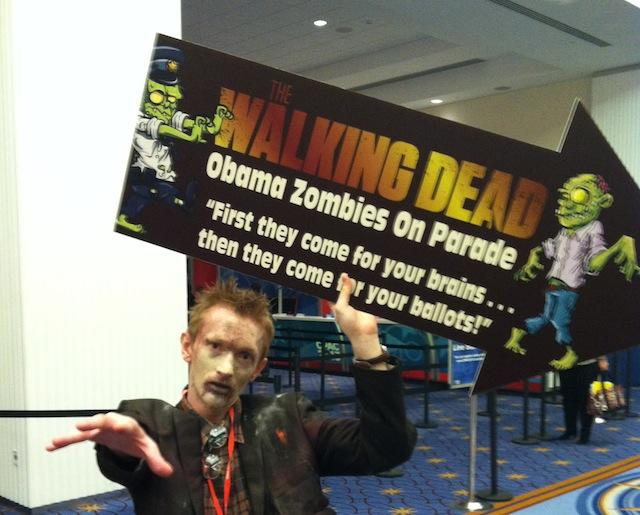 Obama zombies' invade CPAC after dark