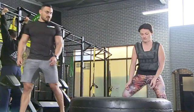 Ms Stalenhoef works out under the supervision of a personal trainer. Source: Today Tonight