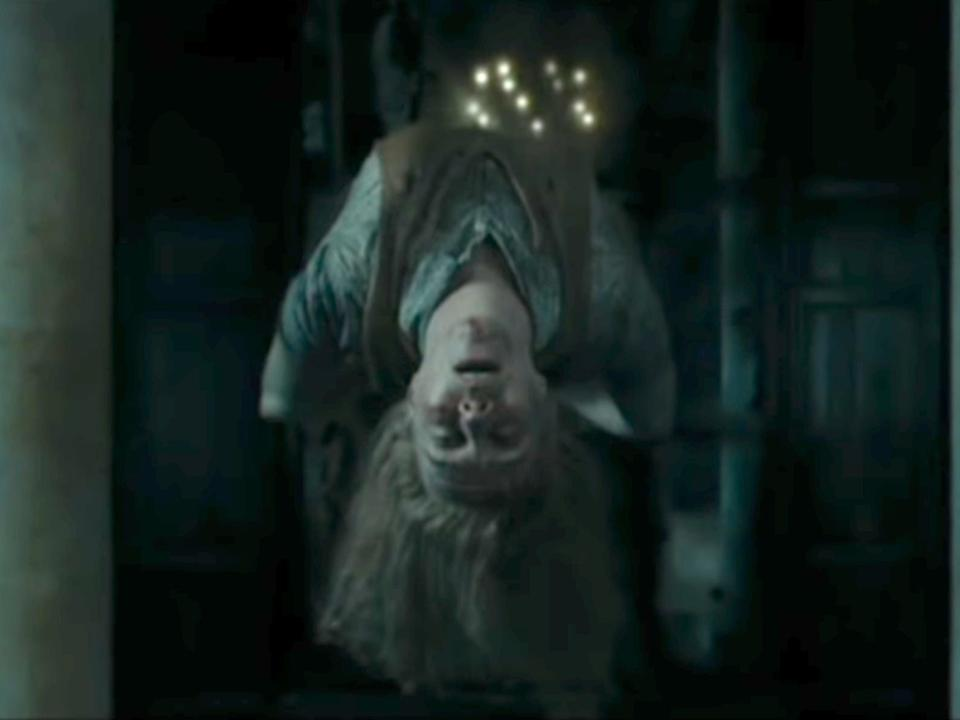 Voldemort killed the Hogwarts Muggle Studies professor in front of the Death Eaters.