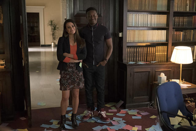 Lea Michele as Valentina Barella and Brandon Micheal Hall as Courtney Rose in 'The Mayor' (Photo: ABC/Tony Rivetti)