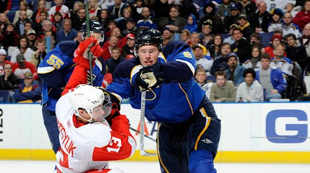 <p>Highly-touted as a cornerstone of the Blues' youth movement, the swift-skating, physical, edgy blueliner had been plagued by injuries and missed all of the 2008-09 season after knee surgery. Johnson managed to play in 79 games during the 2009-10 season, scoring 10 goals (six on the power play) and 29 assists. In 2011, the Blues traded Johnson to Colorado. — Notable picks: No. 2: Jordan Staal, C, Pittsburgh Penguins | No. 3: Jonathan Toews, C, Chicago Blackhawks | No. 4: Nicklas Backstrom, C, Washington Capitals | No. 5: Phil Kessel, C, Boston Bruins | No. 22: Claude Giroux, RW, Philadelphia Flyers | No. 23: Semyon Varlamov, G, Colorado Avalanche</p>