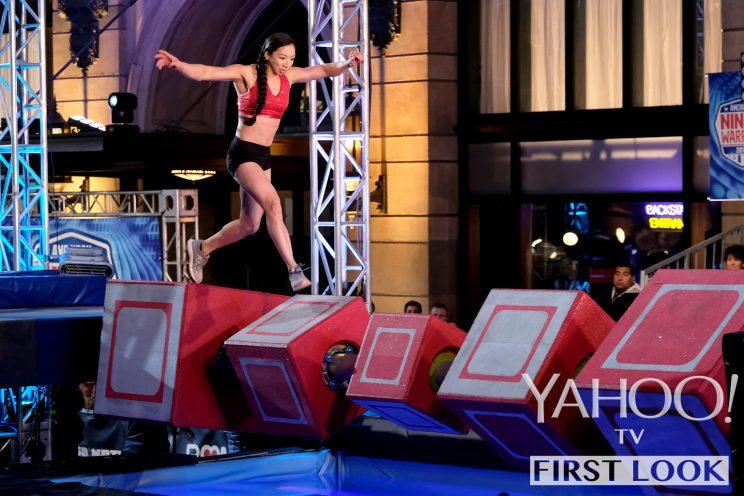 Natalie Duran in American Ninja Warrior (Photo: Tyler Golden/NBC)