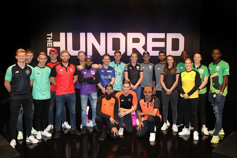 Players for the eight teams in The Hundred line up following The Hundred Draft. (Credit: Getty Images)