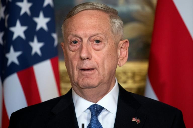 El Secretario de Defensa de Estados Unidos, James Mattis en Londres, el 31 de marzo de 2017
