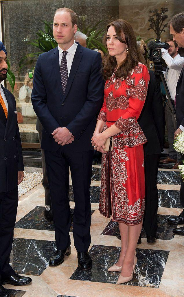 <p>Kate arrived in Mumbai in an Alexander McQueen set (I think it's safe to say he's one of her favorites!)</p>