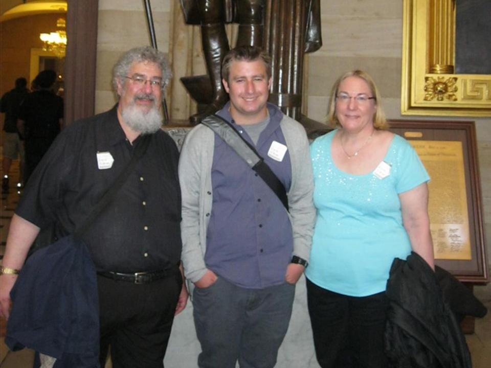 Seth Rich with his parents during a family trip to Washington on the spring of 2013 (Rich family)