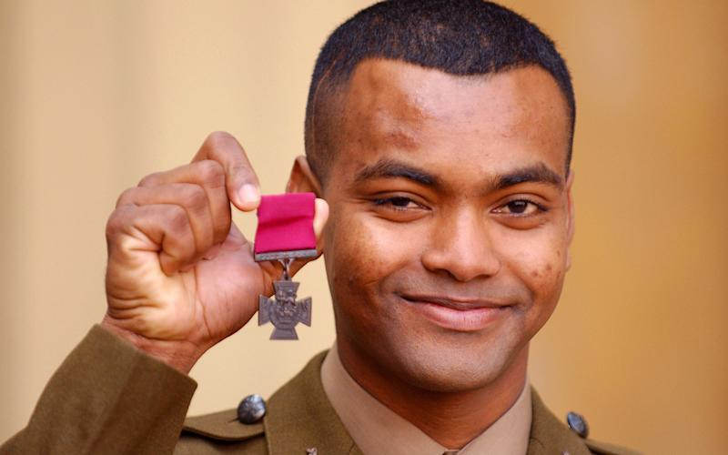 "Victoria Cross recipient Johnson Beharry who has described his ""humiliation"" after he was held up by US border officials during Donald Trump's immigration clampdown. - Credit: PA"