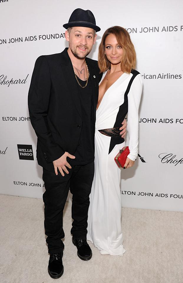 Joel Madden and Nicole Richie attend the 21st Annual Elton John AIDS Foundation Academy Awards Viewing Party at Pacific Design Center on February 24, 2013 in West Hollywood, California.