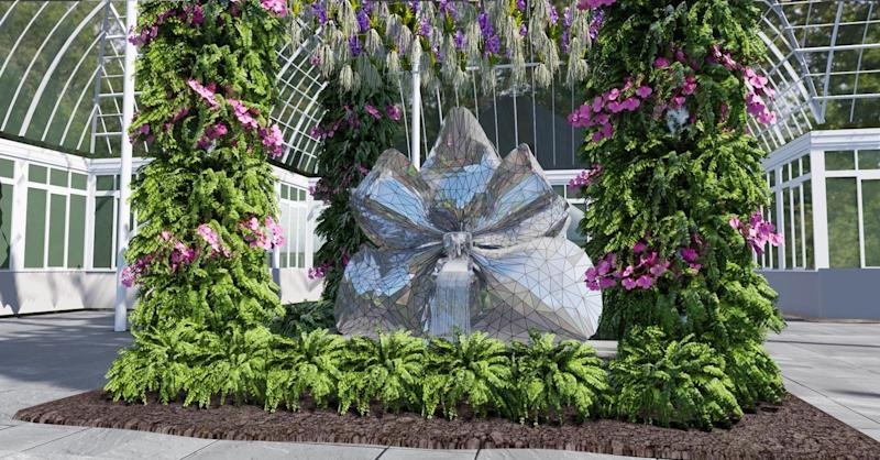 A rendering of the fountain sculpture by Michel Amann.