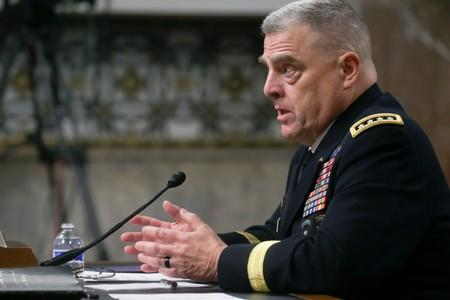 U.S. Army General Milley testifies before Senate Armed Services Committee hearing on Capitol Hill in Washington