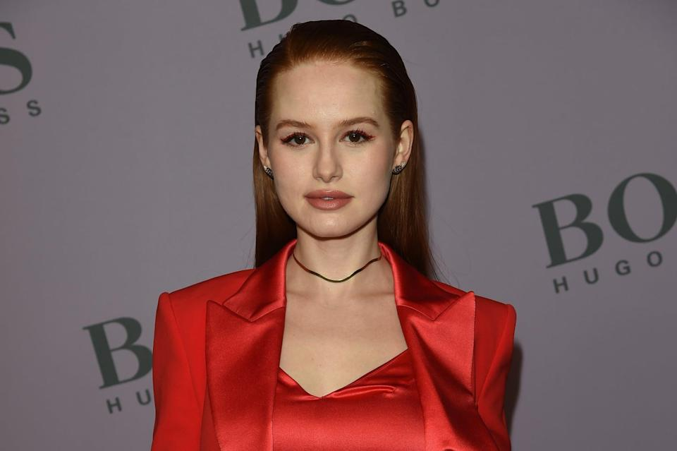 MILAN, ITALY - FEBRUARY 23:  Madelaine Petsch attends the Boss fashion show on February 23, 2020 in Milan, Italy. (Photo by Stefania D'Alessandro/Getty Images)