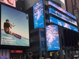 "A ""Global Alert"" in Times Square for Trash Hotspots in Our Waters"
