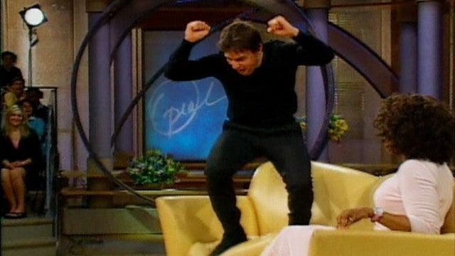 Tom Cruise jumping on  the sofa in the notorious Oprah intervview (YouTube.screengrab)