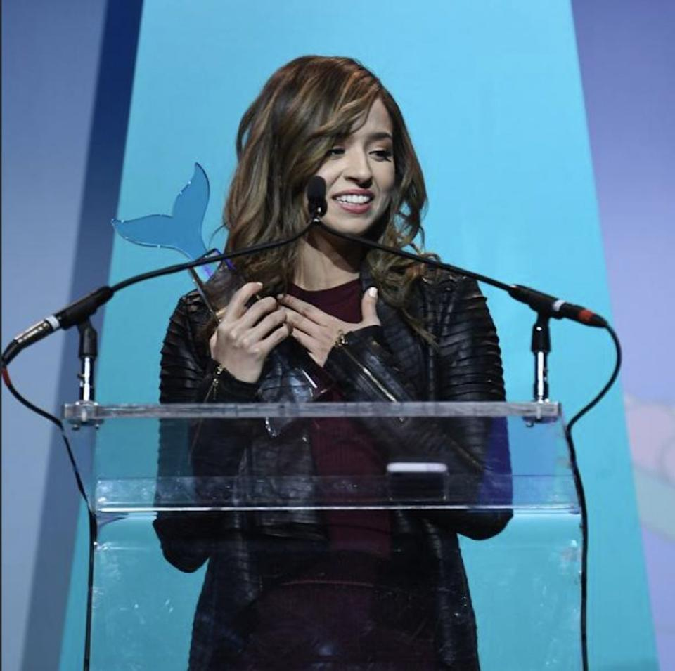 Pokimane at the Shorty Awards