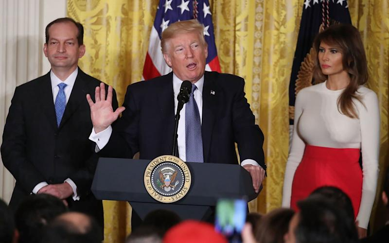 Alex Acosta will stand down in a week - Getty Images North America