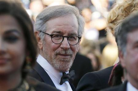 Jury President of the 66th Cannes Film Festival Steven Spielberg poses on the red carpet at he arrives at the closing ceremony of the Festival