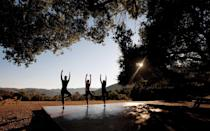 """<p><a rel=""""nofollow noopener"""" href=""""http://www.carmelvalleyranch.com/"""" target=""""_blank"""" data-ylk=""""slk:Carmel Valley Ranch"""" class=""""link rapid-noclick-resp"""">Carmel Valley Ranch</a>, a summer camp-inspired resort, covers 500 acres on <a rel=""""nofollow noopener"""" href=""""http://www.travelandleisure.com/trip-ideas/beach-vacations/california-beaches-easy-cheap"""" target=""""_blank"""" data-ylk=""""slk:California's coast"""" class=""""link rapid-noclick-resp"""">California's coast</a> and takes full advantage of the space, offering indoor-outdoor guest suites, treetop suites, pools, an infinity hot tub, a spa and a growing farmstead with a four-acre vineyard.</p> <p>The River Ranch activity complex has sports and gym facilities, along with planned activities including group hikes, golf, tennis, beekeeping classes, archery and kite building and flying workshops. The gym facilities include indoor cycling, TRX, battle rope, barre strength, BodyPump, Core Fit, cardio tennis and tennis clinics, hatha and restorative yoga, H20 Flow, Pilates, stretching and foam rolling, circuit training, golf clinics and meditation.</p>"""