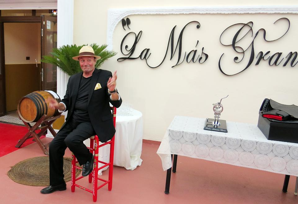 CHIPIONA, SPAIN - JULY 15:  Amador Mohedano attends the opening of 'La Mas Grande', a club that pays homage to Rocio Jurado  on July 15, 2015 in Chipiona, Spain.  (Photo by Europa Press/Europa Press via Getty Images)