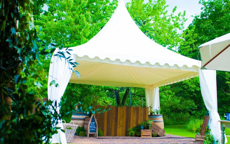 UK Hospitality said marquees and gazebos are a 'great solution' for new restrictions