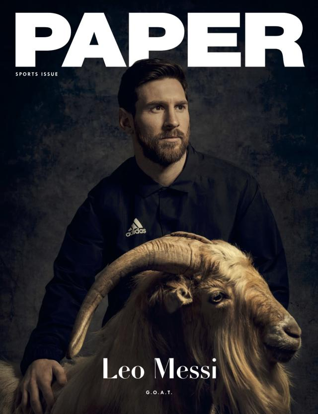Lionel Messi is on the cover of PAPER's sports issue. (Courtesy: PAPER)