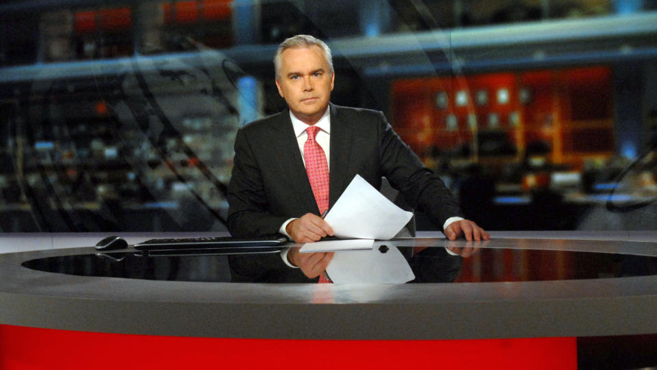 Huw Edwards has anchored the BBC's flagship 10pm news broadcast since 2003. (Jeff Overs/BBC News & Current Affairs via Getty Images)