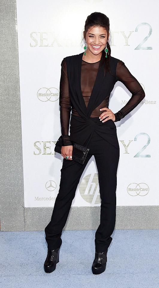 "<a href=""http://movies.yahoo.com/movie/contributor/1809809194"">Jessica Szohr</a> at the New York City premiere of <a href=""http://movies.yahoo.com/movie/1810111276/info"">Sex and the City 2</a> - 05/24/2010"