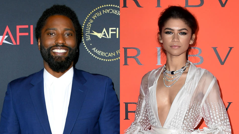 John David Washington and Zendaya. (Credit: Jon Kopaloff/FilmMagic/Steven Ferdman/Getty Images)