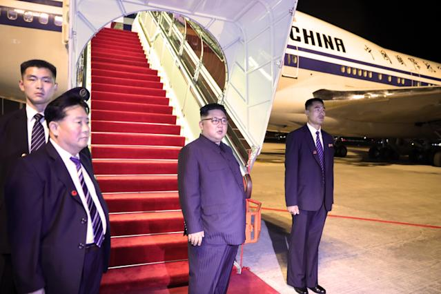 <p>North Korean leader Kim Jong-un departs Singapore from Changi Airport on June 12, 2018, in Singapore. (Phot: Ministry of Communications and Information Singapore via Getty Images) </p>