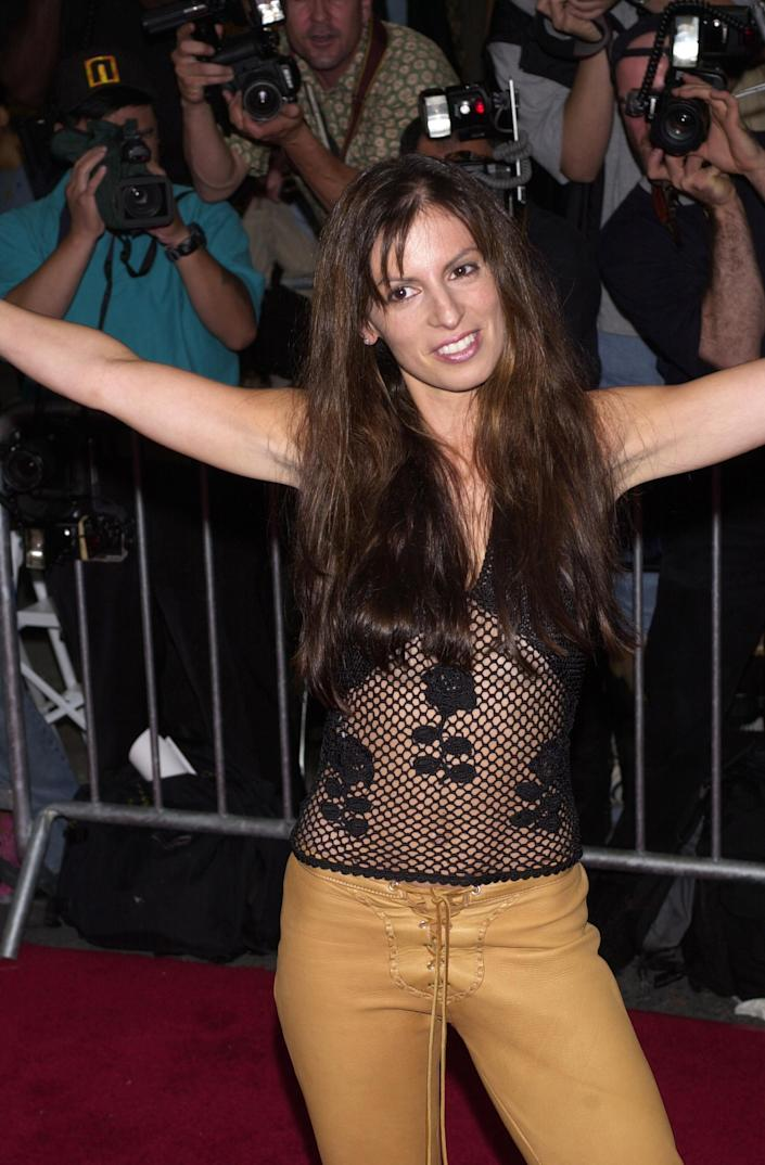 Coyote Ugly Saloon owner, Liliana Lovell, at the New York premiere of <em>Coyote Ugly</em> in 2000. (Photo: RJ Capak/WireImage)