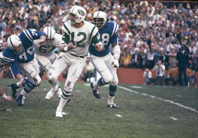 <p>Beyond Joe Namath's famous pregame guarantee, this game should be recognized most for the role it played in shaping the National Football League as we know it today. At the time of this game in 1969, the Colts were part of the American Football League, which had not yet fully merged with the NFL. Up until this game, sports pundits speculated that AFL teams weren't high enough caliber to compete with in the NFL, calling the merger into question. That was put to rest when the heavily favored Colts (who were 15-1 entering the game) fell short to the Jets, not only validating Namath's bold prediction but paving the way for the completion of the NFL-AFL merger a year later. </p>