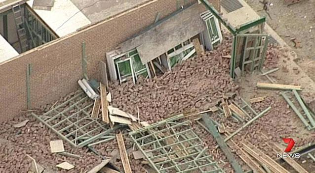 The structure collapsed on at Carlingford on Wednesday morning. Photo: 7 News