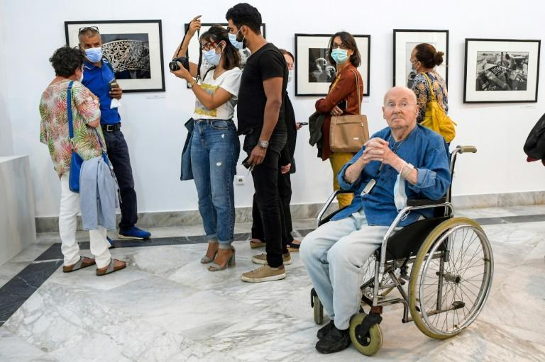 The 70 photos in the exhibition cover the breadth of his work: the sea and fishermen, the daily life of Tunisians, the old crafts (AFP/FETHI BELAID)