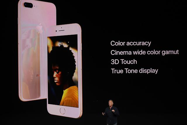 <p>The Retina HD display has True Tone, which improves colours in your images. (Photo by Justin Sullivan/Getty Images) </p>