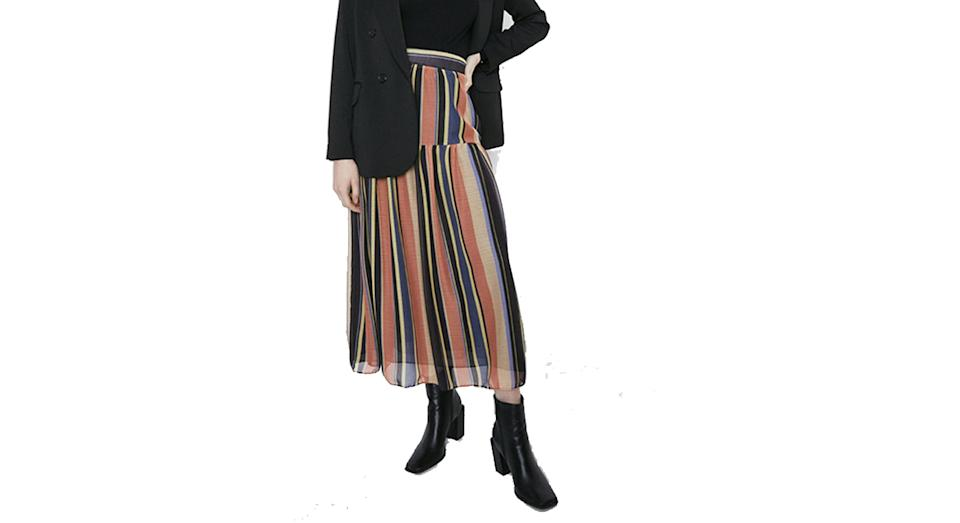 Stripe Midaxi Skirt