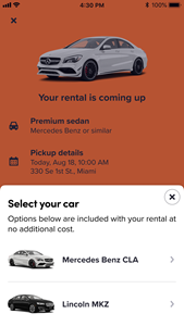 Lyft Rentals Booking with SIXT
