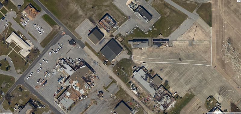 F-22s, QF-16 likely damaged after Tyndall hangars hit by hurricane