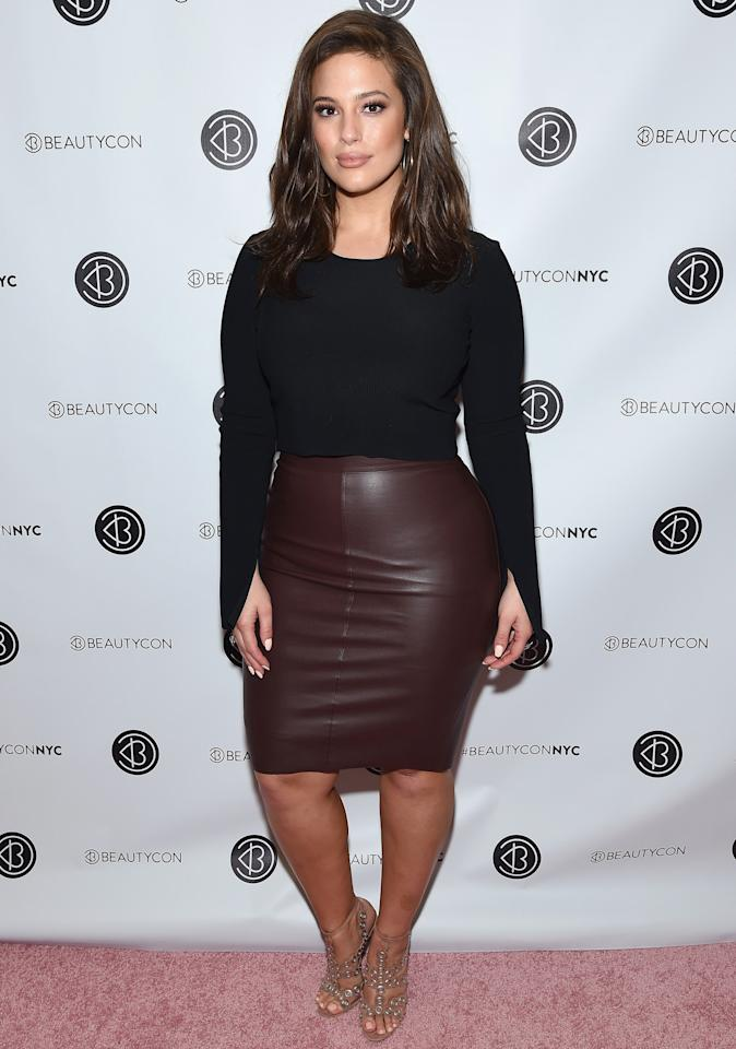 <p>Pairing a slim-fit T-shirt with a faux-leather pencil skirt is genius! It's not as expected as a dress, and it still skims your frame, giving you a smart yet more relaxed look. </p>