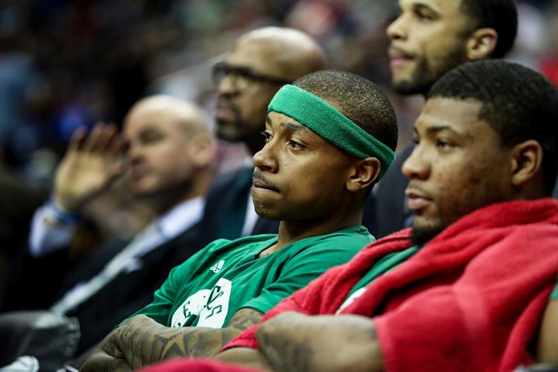 Isaiah Thomas wishes a heckler would. He *wishes.* (AP)