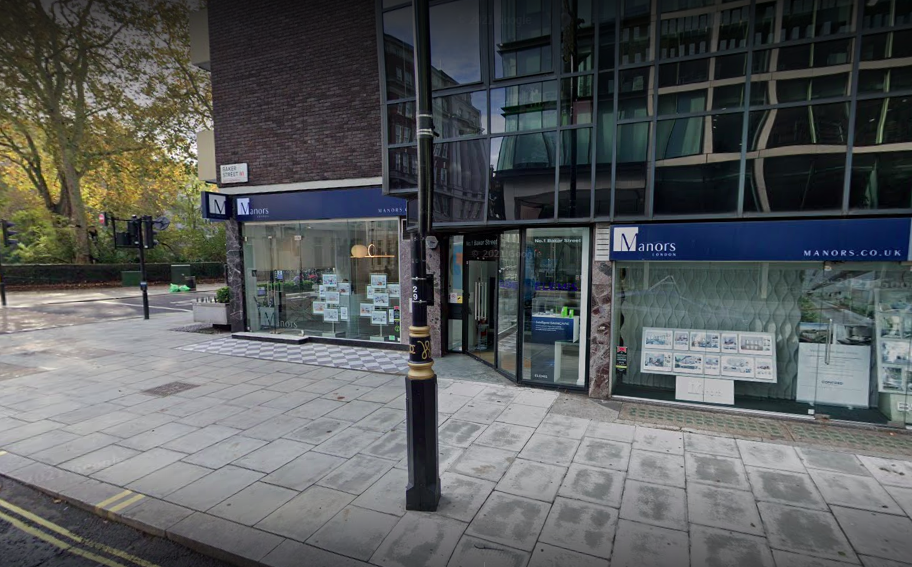 Alice Thompson resigned from estate agents Manors in London. (Google)