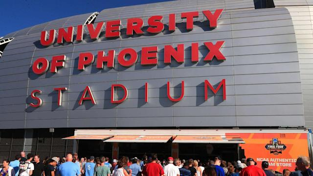 Declining enrollment has led the University of Phoenix to withdraw from its naming rights at the stadium, which hosted the 2017 Final Four.