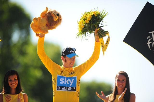Bradley Wiggins won the famous yellow jersey in the 2012 Tour de France