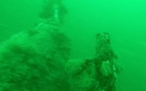 The well-preserved wreck of a World War One German submarine.   - Credit: Yves Herman /Reuters