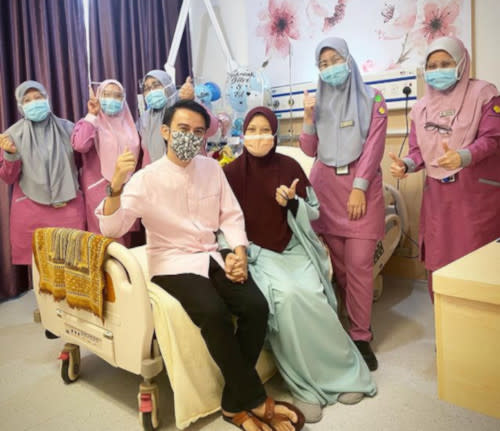 Fitri's wife has recovered and has been discharged from the hospital