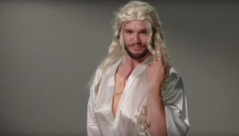 Kit Harington 'auditions' in Game of Thrones spoof screen test