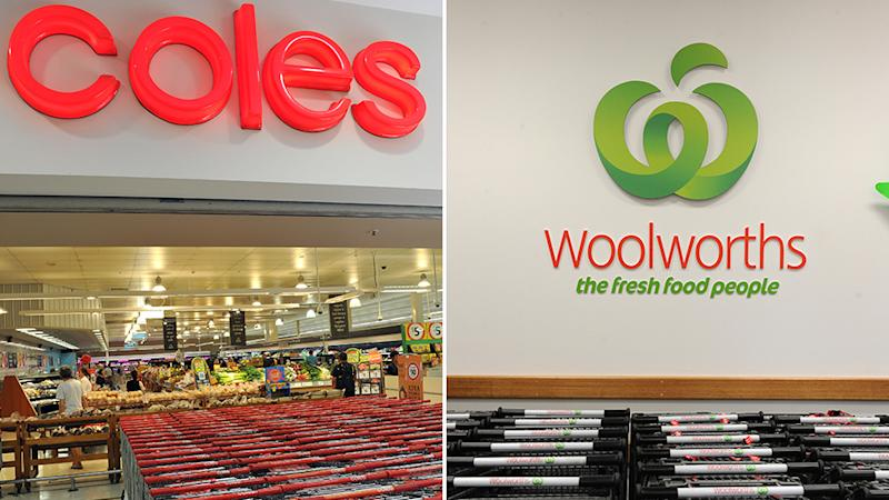 Coles and Woolworths have donated water and essentials to evacuation centres and firefighters. Source: AAP
