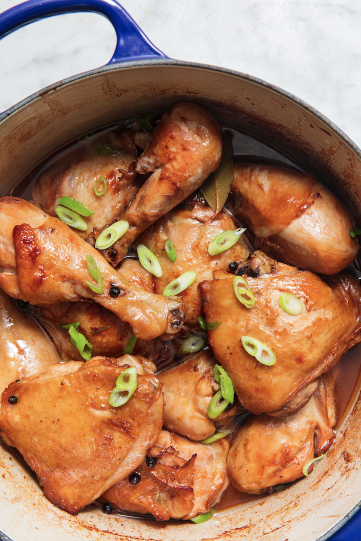 "<p>Braise away. </p><p>Get the recipe from <a href=""https://www.delish.com/cooking/recipe-ideas/a20079316/fillipino-chicken-adobo-recipe/"" rel=""nofollow noopener"" target=""_blank"" data-ylk=""slk:Delish"" class=""link rapid-noclick-resp"">Delish</a>.</p>"
