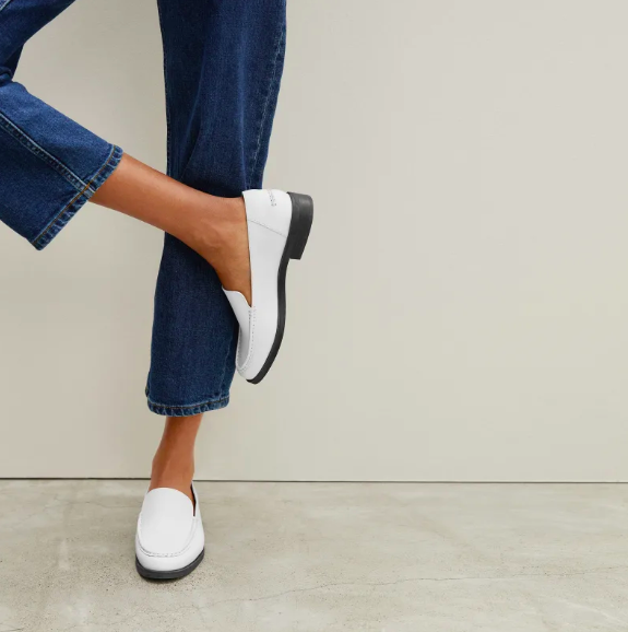 The Modern Loafer in White. Image via Everlane.