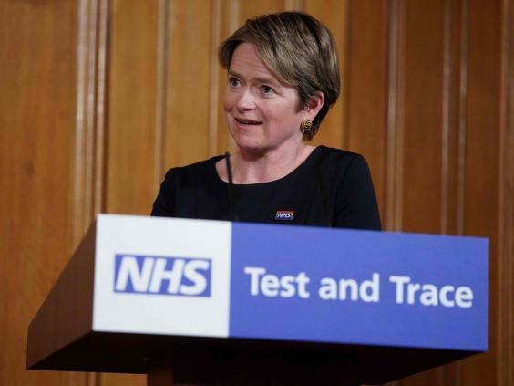 NHS Test and Trace's executive chair, Tory peer Baroness Dido Harding (10 Downing Street/AFP via Getty)